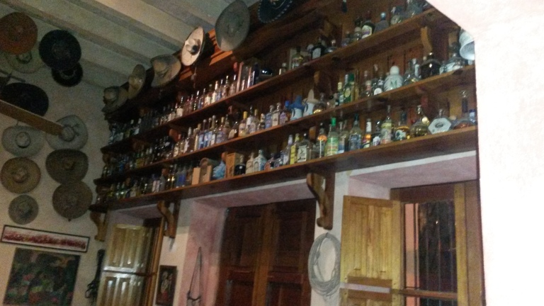 The Hacienda De Los Santos cantina has over 500 kinds of tequila!