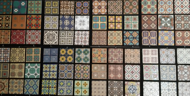 Huge selection of ceramic tiles.